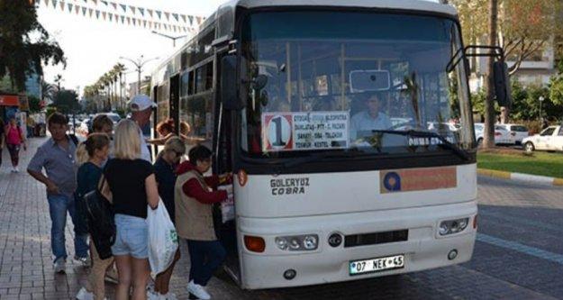 Alanya'da halk otobüsünü kullananlar dikkat!