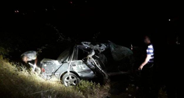 Alanya'da kontroldan çıkan otomobil takla attı: 3 yaralı var