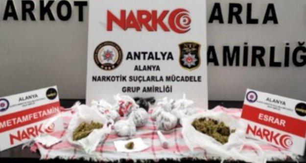 Alanya'da parkta uyuşturucu operasyonu