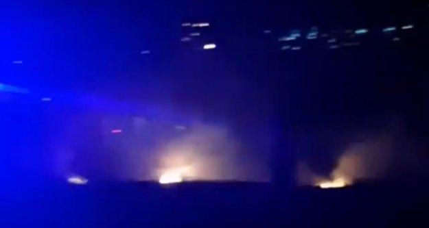 Alanya'da uygulamadan kaçan araç trafoya çarptı: Trafo alev aldı, 4 yaralı var