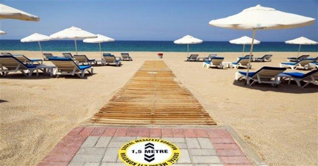Alanya Plajları Covid-19'a hazır