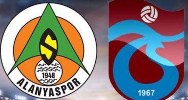 Alanyaspor ve Trabzon maçının 11'leri belli oldu
