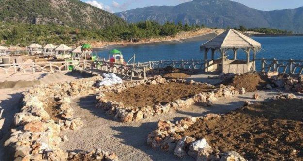 Gündoğmuş'a göl kenarına Selçuklu tarzı sosyal alan