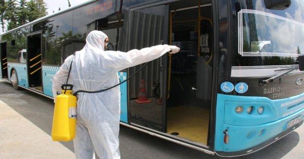 Toplu ulaşım araçlarında dezenfekte sürüyor