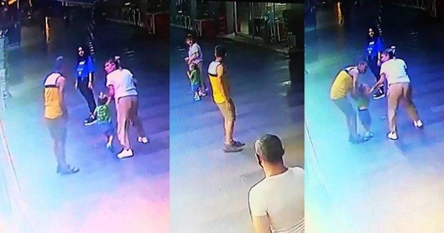 2.5 yaşındaki çocuğu kaçırma girişimi kamerada