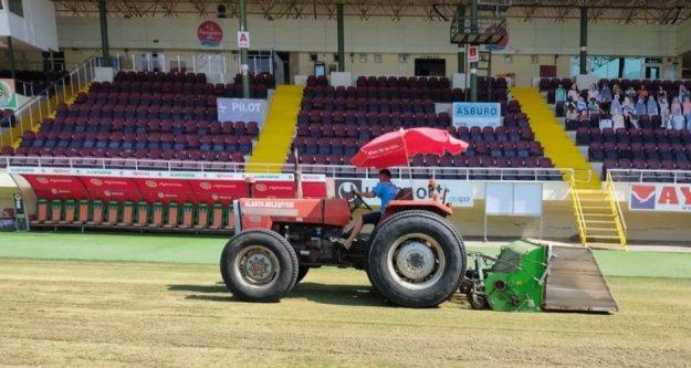 Alanya Belediyesi Oba'da UEFA kriterleri için düğmeye bastı