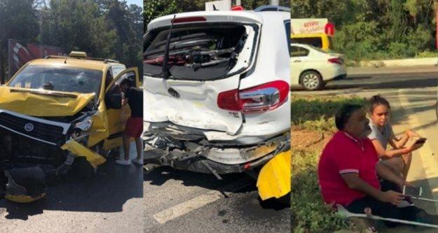 Alanya'da engelli sürücü ve ailesi ölümden döndü