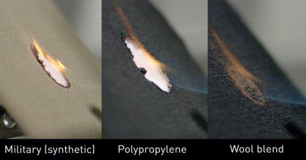 Ateşe karşı en yüksek direnci yünlü kumaşlar sağlıyor