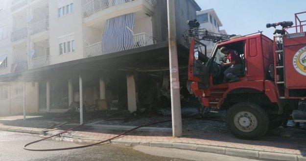Ev yangınında can pazarı