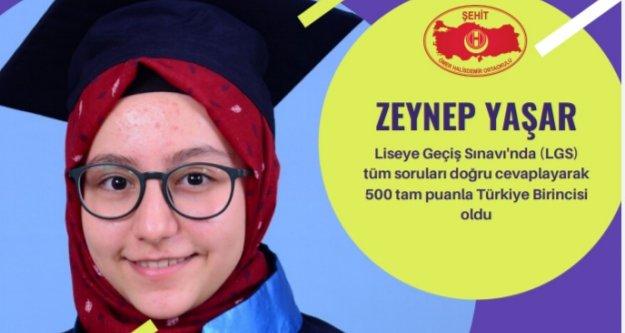 LGS Türkiye birincisi Alanya Şehit Ömer Halisdemir'den