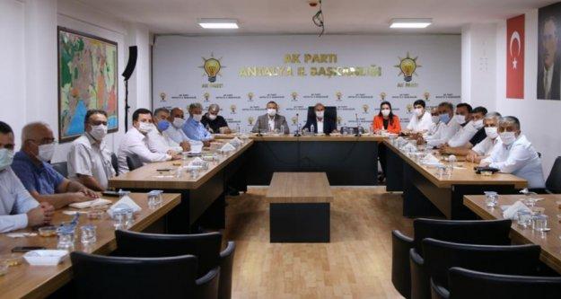 Mustafa Toklu ilçe kongresi için görüştü