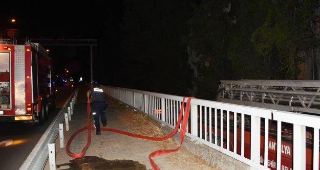 Alanya'da otelde yangın çıktı
