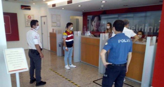 Alanya'daki banka şubelerine Covid-19 denetimi