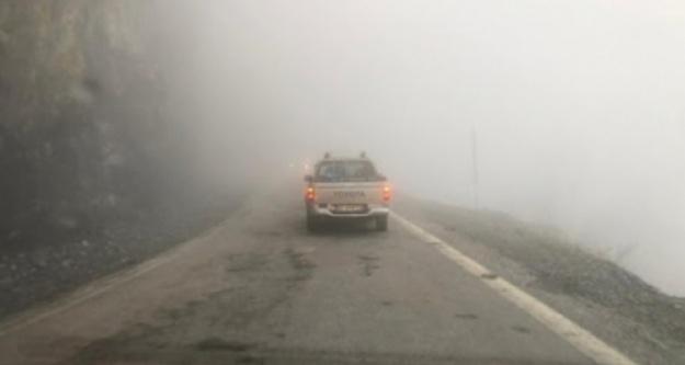 Alanya'nın yayla yolunda sis paniği