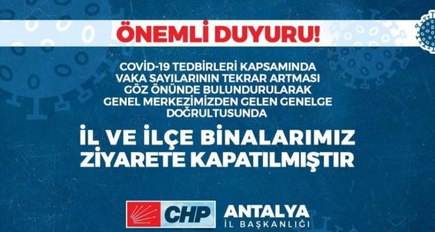 CHP'den teşkilatlara korona tebligatı