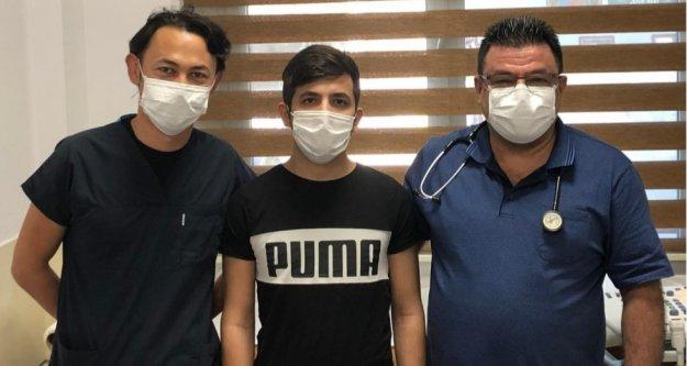 Alanya'da doğuştan kalp hastası olan genç sağlığına kavuştu