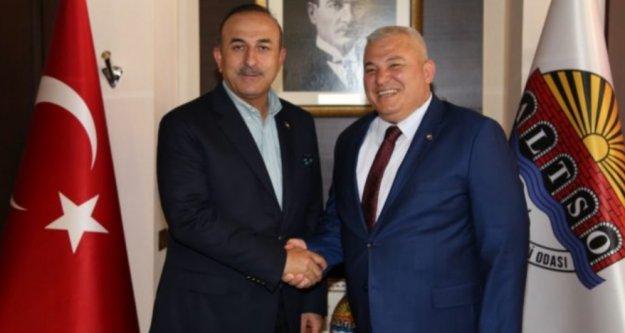 Şahin'den Bakan Çavuşoğlu'na ikamet izni teşekkürü