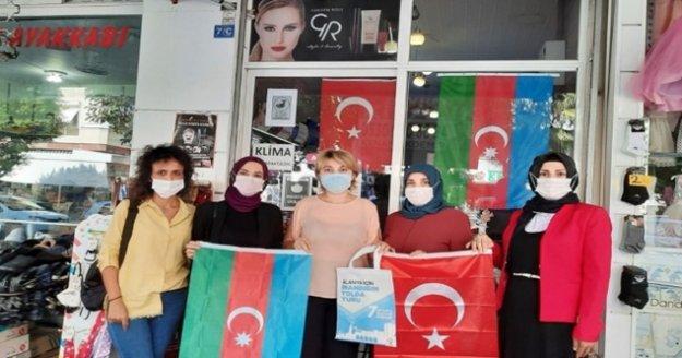 Ak Partili kadınlardan Alanya'da yaşayan Azerilere destek