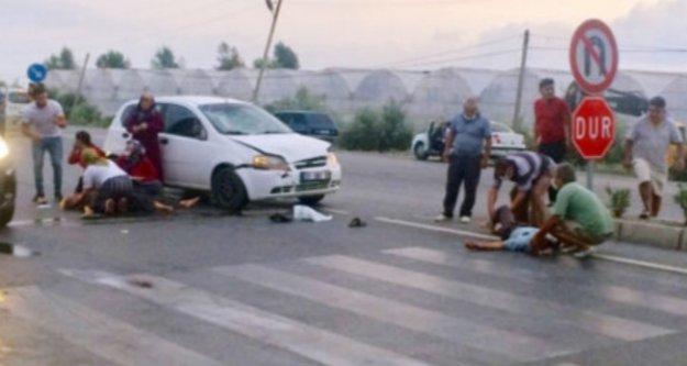 Alanya'da feci kaza: 2 yaralı var