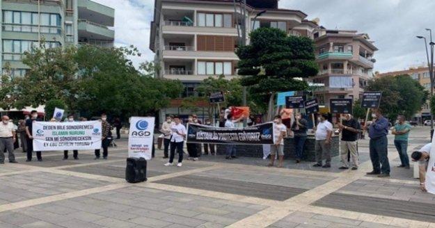Alanya'da Macron protesto edildi