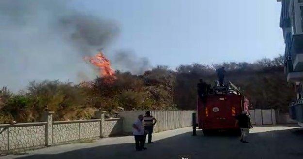 Alanya'da temizlik için yaktığı ateşi söndürmek isterken ağır yaralandı