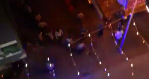 Alanya sokaklarında gece yarısı büyük kavga
