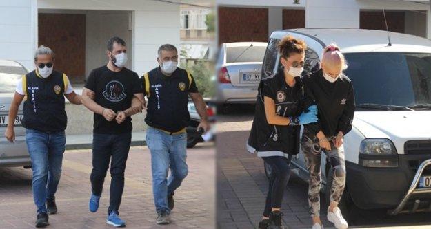 Alanyada uyuşturucu baskınında yakalanan şüpheliler tutuklandı