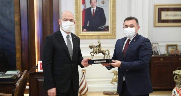 Başkan Yücel, Bakan Soylu'yu ziyaret etti
