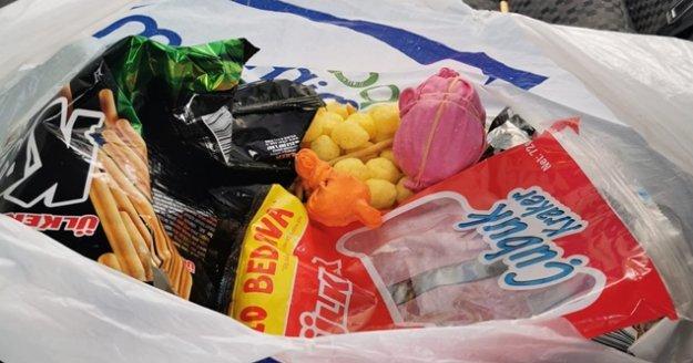 Gazipaşa'da  şüpheli araçtan renkli balon içinde uyuşturucu çıktı