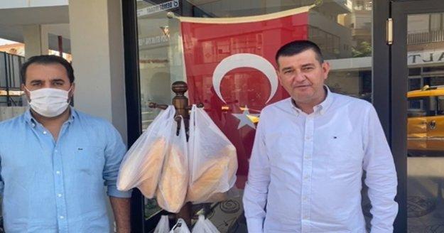 MHP Alanya'dan askıda ekmek kampanyası