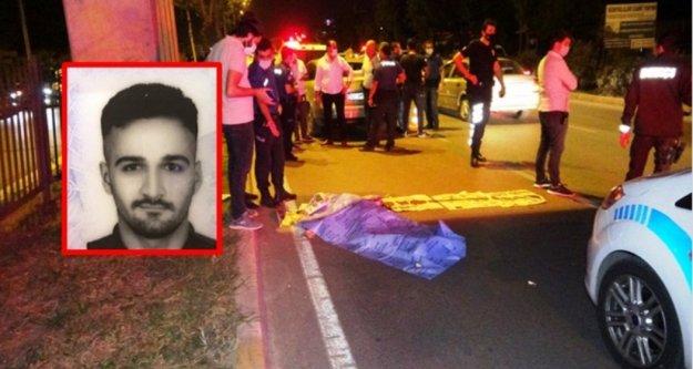 Üst geçitten düşüp otomobilin altında kalan gencin feci ölümü