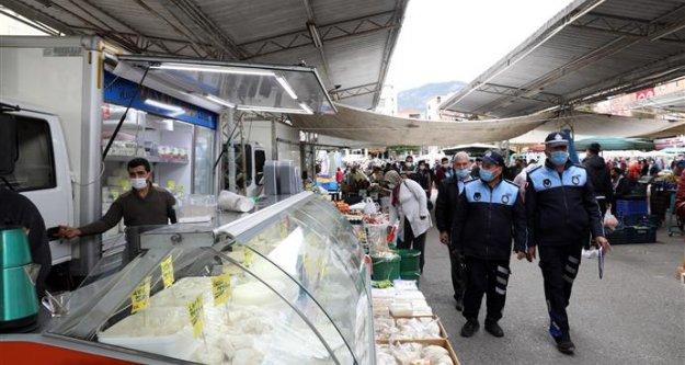 Alanya Belediye Zabıtası dükkan ve pazarlarda denetim yaptı!