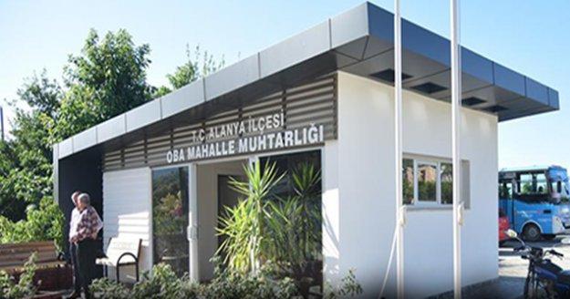 Alanya Belediyesi'nden 7 mahalleye yeni muhtarlık ofisi