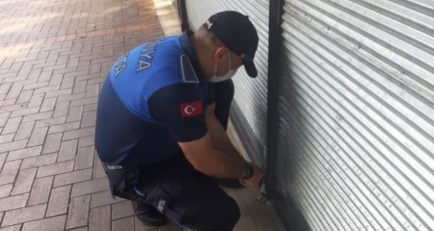 Alanya'da 10 dükkan mühürlendi