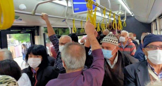 Alanya'da toplu taşımada korkutan manzara