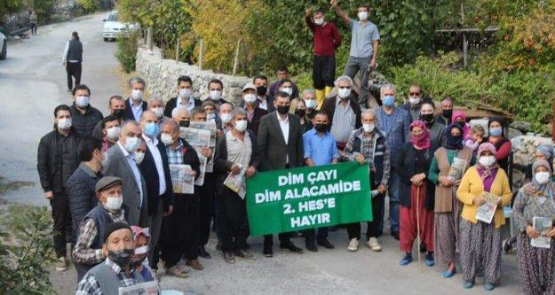 Alanya MHP Dim Alacami'de 2. HES'e hayır dedi