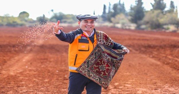 Antalya Orman Çiftliği'ne 10 ton ekmeklik buğday ekildi