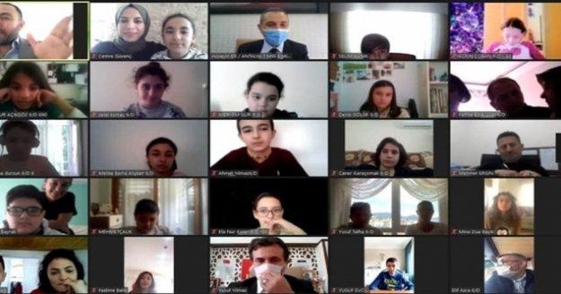 Müdür Er'den Alanyalı öğrencilerle online söyleşi