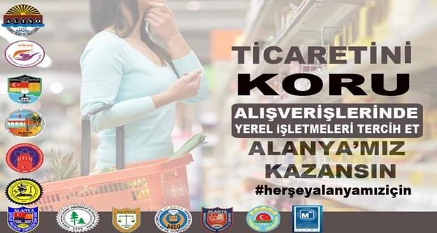 Alanya'daki odalardan yerel işletmelere destek kampanyası