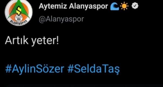 Alanyaspor'dan kadın cinayetlerine tepki