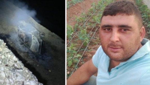 Baraja düşüp alev alan araçta yanarak hayatını kaybetti