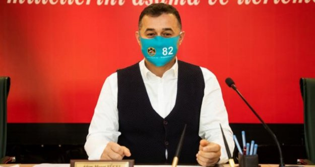 Başkan Yücel'den 82 temalı maske ile 2021 yılı için il olma mesajı