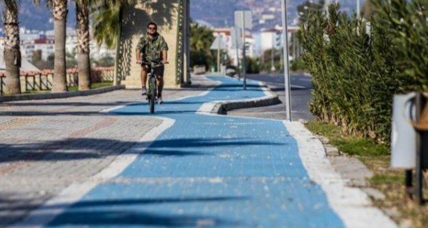 Bisiklet yolunun Kestel etabı tamamlandı