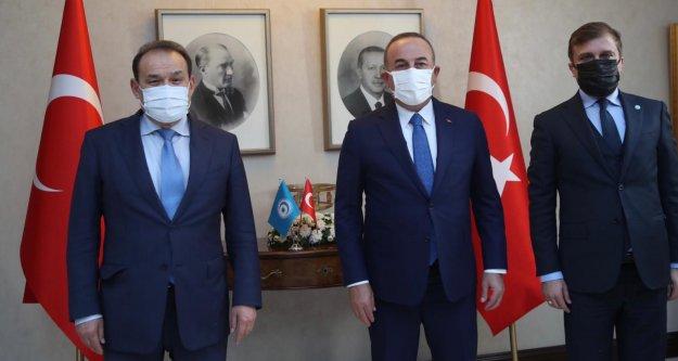 Çavuşoğlu Türk Konseyi Genel Sekreteri Amreyev'i kabul etti