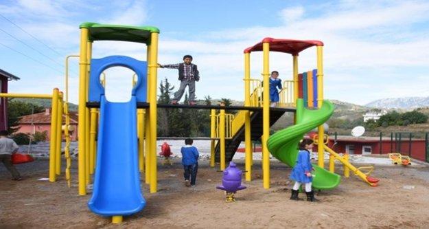 Alanya Belediyesi park hazırlığında