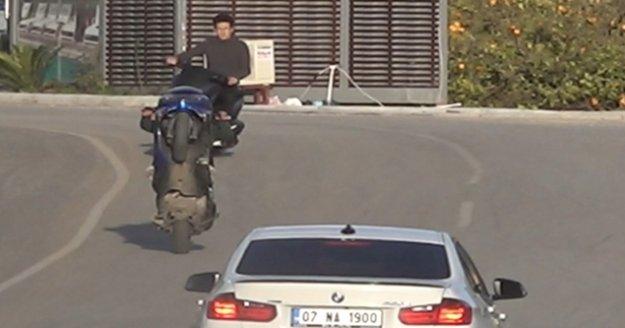 Alanya'da motosikletli gençlerin ölüme davetiye çıkarması cezasız kalmadı!