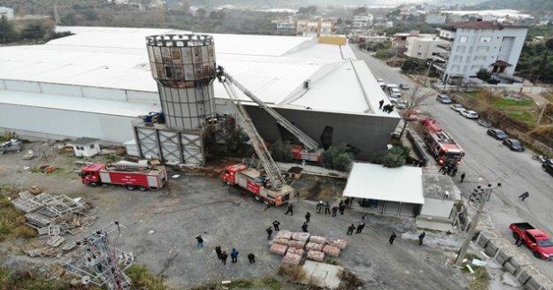 Alanya'da Orman ürünleri fabrikasında yangın çıktı!