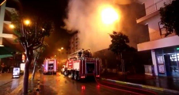 Alanya#039;da sabaha karşı korkutan yangın