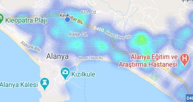Alanya'yı sevindiren harita