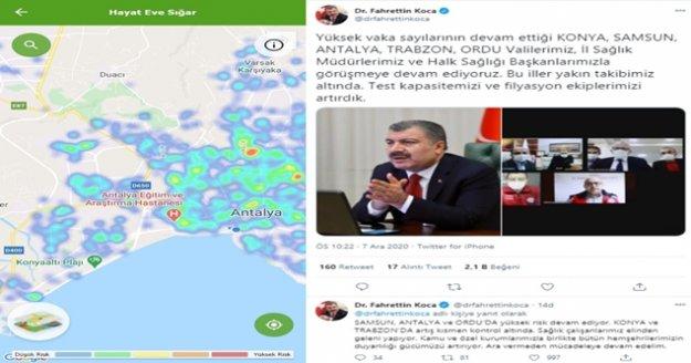 Antalya'da risk haritası kırmızıdan yeşile döndü